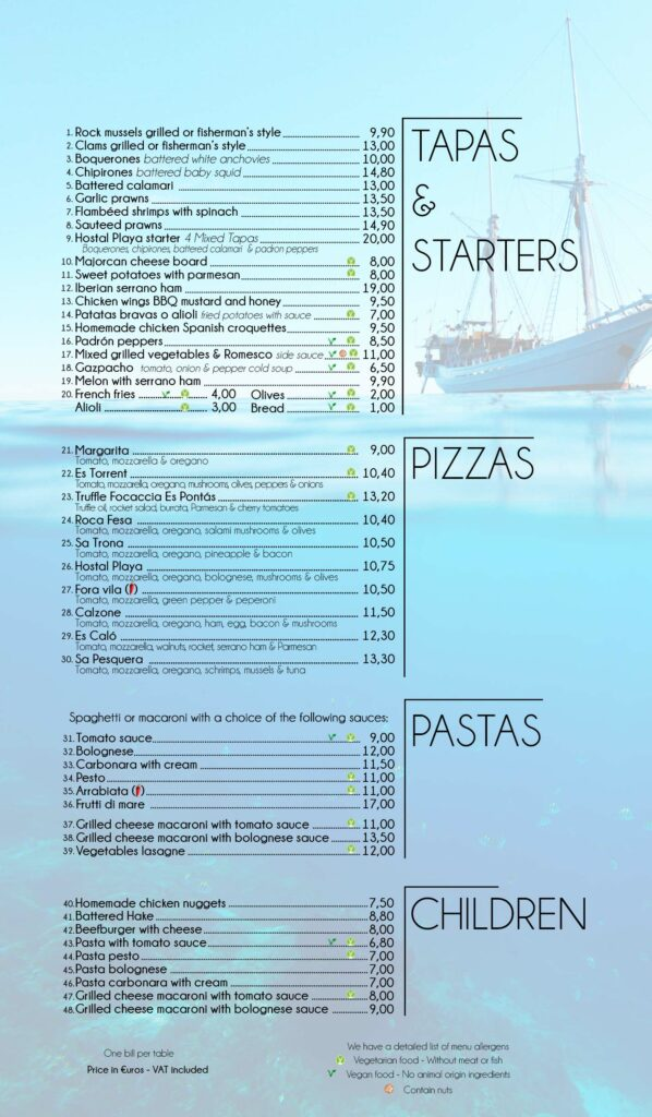 Beach restaurant cala santanyi