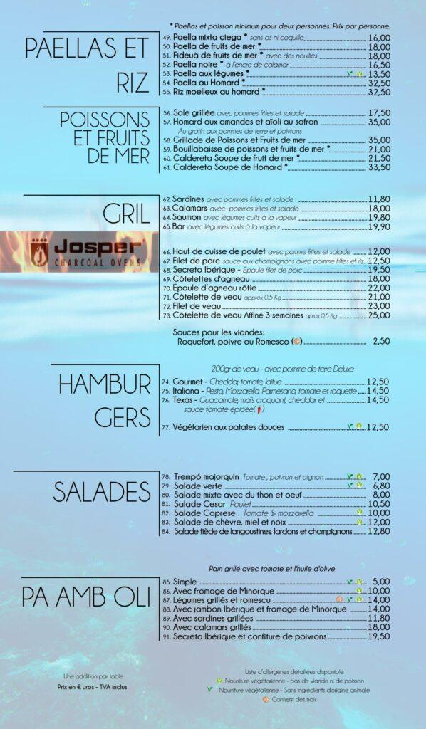Restaurant de plage Cala Santanyi